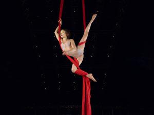 Numéro du spectacle Quidam, du Cirque du Soleil