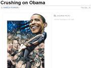 Barack Obama en vedette du rock (crédit: Drew Friedman/Time)