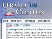 Le site Obama - Clinton 08