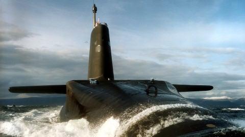 Collision de sous-marins nucléaires français et britannique en mer d'Iroise AFP_090216hms-vanguard_8