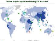 Une carte du monde sur les désastres hydro-météorologiques