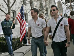 Manifestation pour les droits des gais, le 5 mars, à San Francisco.
