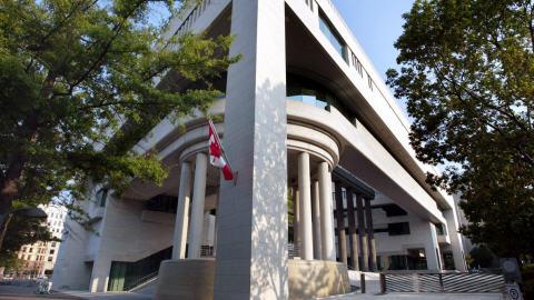 L'ambassade du Canada à Washington.