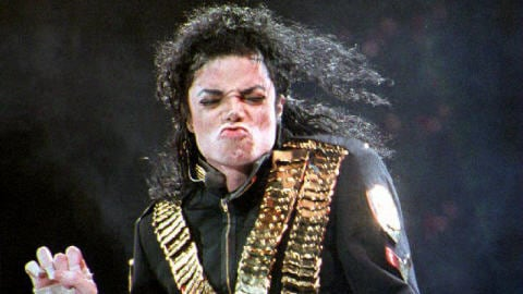 Michael Jackson au National Stadium en 1993.