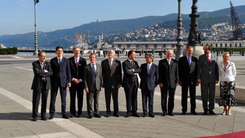 Les chefs de la diplomatie du G8 réunis en Italie