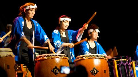 Le groupe Arashi Daïko