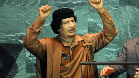 Le dirigeant libyen Mouammar Kadhafi