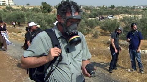 Luc Chartrand à Bil'in, le 16 octobre 2009