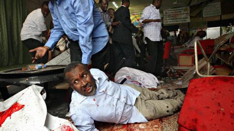 Un des blessés par l'explosion