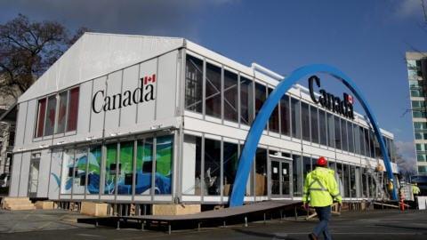pavillion canadien laite