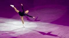 Joannie Rochette pendant sa performance lors du gala réunissant les médaillés de patinage artistique.