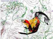 Possibilit� de dispersion des cendres du volcan islandais