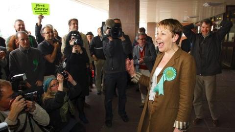 Caroline Lucas, premi�re d�put�e des verts aux Communes britanniques - PC/AP Photo/Chris Ison, PA