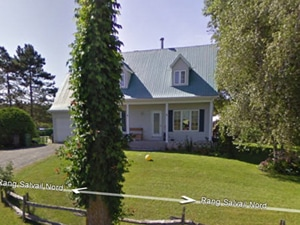 Saint-Jude : la maison avant le glissement...