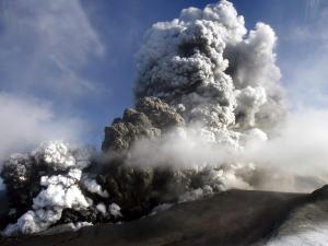 Volcan Eyjafjöll en avril 2010.