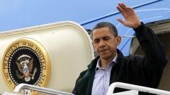 Arrivée du président Barack Obama à l'aéroport de La  Nouvelle-Orléans, le 4 juin 2010.