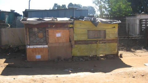Un «shack» à Makausi