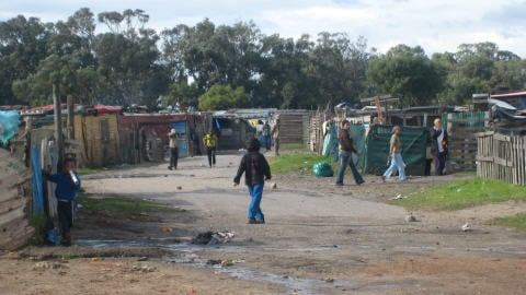 Le bidonville de Malawi