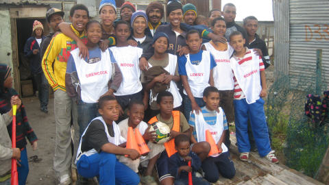L'�quipe de foot du village