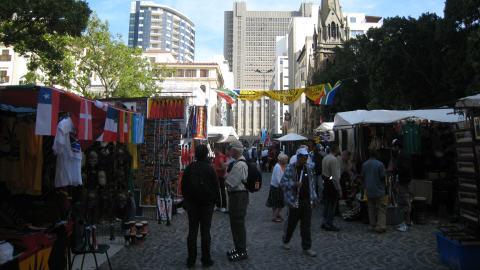 Bazar au centre-ville du Cap