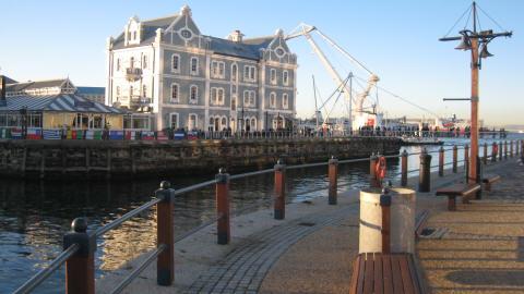 Quai d'embarquement vers Robben Island, lieu d'exil de Nelson Mandela