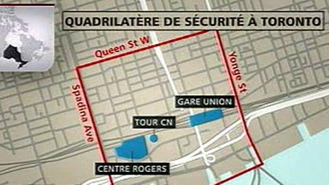 Le quadrilatère de sécurité à Toronto