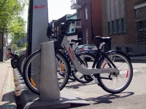 Une station Bixi à Montréal