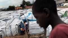 Un camp de Port-au-Prince