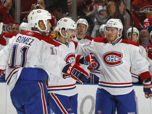 Scott Gomez, Max Pacioretty et James Wisniewski