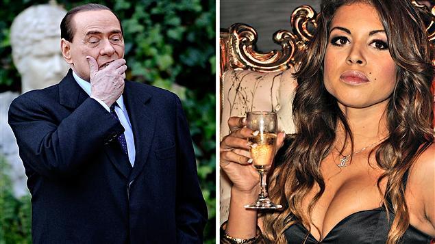 Silvio Berlusconi et Karima El Mahroug, surnommée Ruby