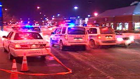 Des policiers sur les lieux d'une intervention qui a fait plusieurs blessés dans le quartier Côte-des-Neiges.