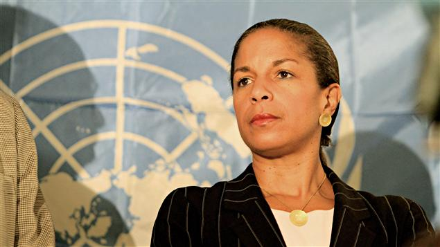 L&#39;ambassadrice des tats-Unis  l&#39;ONU, Susan Rice, en octobre 2010