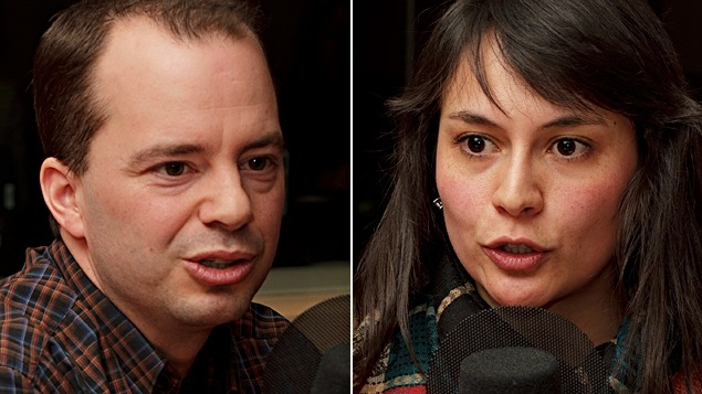 ©Radio-Canada/Christian Côté   <b>Martin Joyal et Veronica Perez, de l'entreprise Rapid Snack</b>