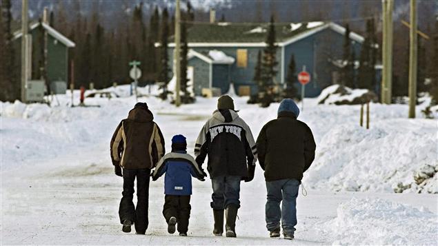 Des membres du village innu de Natuashish, au Labrador.