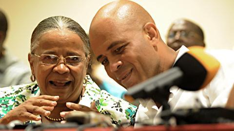 Les candidats Mirlande Manigat et Michel Martelly