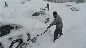 Tempête de neige à Sherbrooke