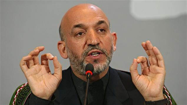 Le prsident afghan Hamid Karza