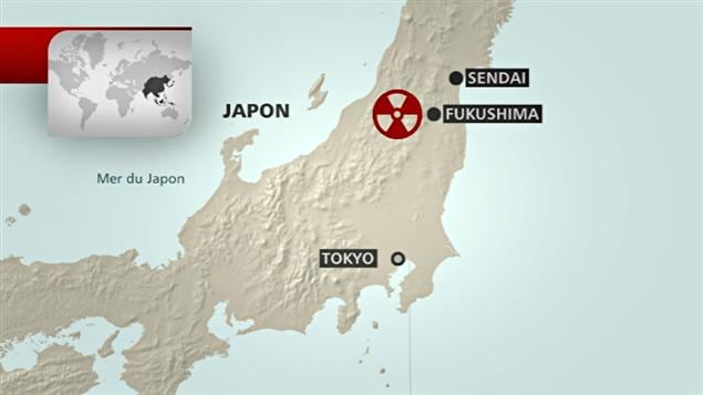 Carte du Japon qui situe Fukushima
