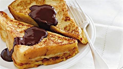 Pain Perdu Aux Bananes Caramelisees Et Sauce Au Chocolat Archives