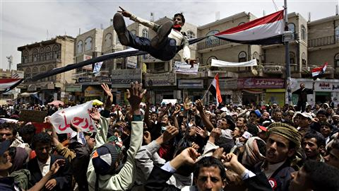 Manifestants à Sanaa (17 mars 2011)
