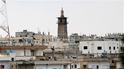 Vue du minaret de la mosquée de Deraa
