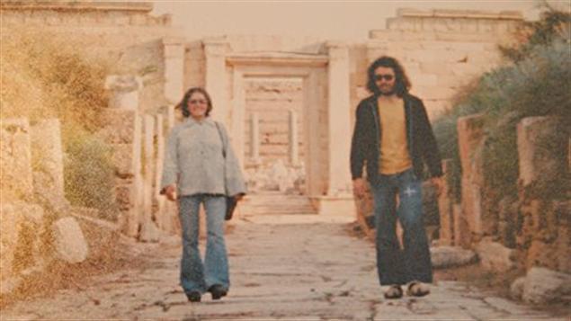 Yves et Mme Désautels en visite en Libye en février 1975.