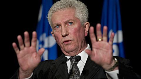 Le chef du Bloc québécois Gilles Duceppe lançant sa campagne le 26 mars 2011, à Montréal.
