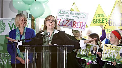 La chef du Parti vert, Elizabeth May