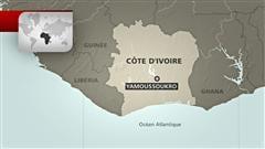 Carte de la Côte d'Ivoire