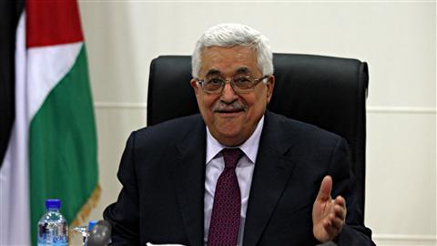 Mahmoud Abbas, le président de l'Autorité palestinienne, lors d'une réunion le 27 mars 2011 à Ramallah