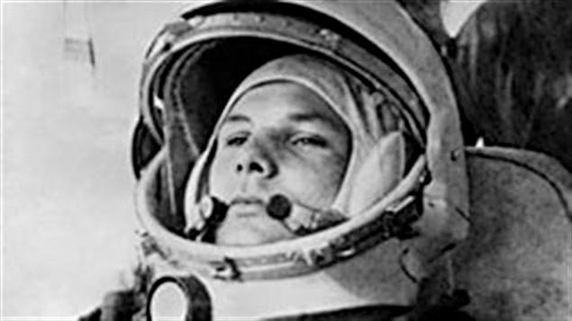 Le cosmonaute Youri Gagarine, premier homme dans l'espace