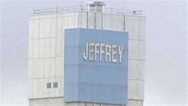 La mine Jeffrey à Asbestos (archives)