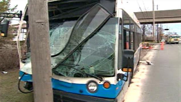 Accident d'un autobus de la STM