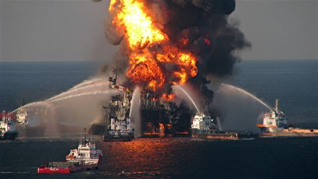 La plateforme Deepwater Horizon a explosé le 20 avril 2010.